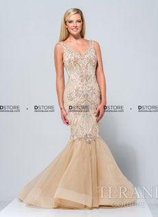 Vestido de festa longo sereia couture Terani 151GL0327A