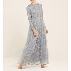 Discover a wide range of modest dresses for all occasions. From maxi dresses to embellished gowns, we have something to suit you. Shop online now at Inayah. Dress Brokat Modern, Kebaya Modern Dress, Kebaya Dress, Abaya Fashion, Muslim Fashion, Kimono Fashion, Fashion Dresses, Party Outfits For Women, Classy Outfits For Women