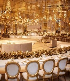 Golden Dream 💫 Filled with bold gold color to create a grand and rich feel ! ________________ ▪︎Wedding planner and designer :… Wedding Table Setup, Lebanese Wedding, Wedding Decorations, Table Decorations, Cream And Gold, Floral Arrangements, Wedding Planner, Candles, Destination Weddings