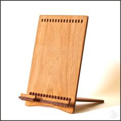 Natural iPad Stand in Cherry Wood for New iPad, iPad 2, Original iPad, iPad Mini