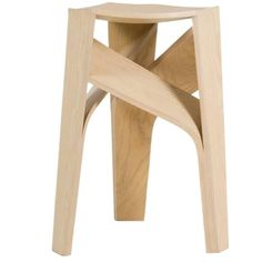 Aero, Three-Legged Bentwood Stool | From a unique collection of antique and modern stools at https://www.1stdibs.com/furniture/seating/stools/