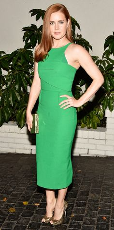 Look of the Day - January 9, 2015 - Amy Adams in Roland Mouret from #InStyle