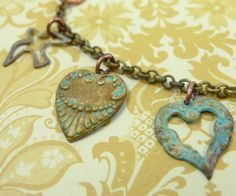 How to patina brass charms