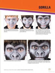 Fun Face Painting Ideas for Kids: 40 Step-by-Step Demos Brian Wolfe Nick Wolf Face Painting Tips, Face Painting Tutorials, Face Painting Designs, Painting Patterns, Painting For Kids, Paint Designs, Animal Face Paintings, Animal Faces, Monkey Face Paint