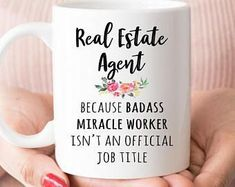 Gift For Real Estate Agent, Funny Real Estate Agent Coffee Mug, Graduation Gift (M1127) #realestatefunny