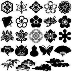 íconos tradicionales japoneses