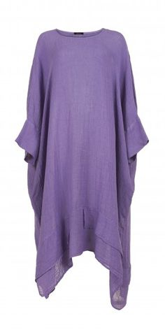 Idaretobe.com Bright Lilac Linen Dress