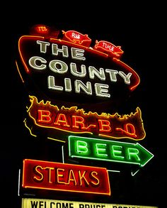 The County Line....Austin Texas (My mouth waters just thinking about it!)