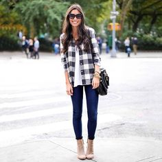 This is my kind of getup! Flannel and booties for days!
