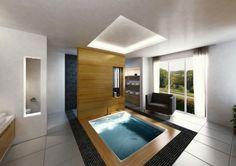 Trendig und luxuriös wirken eingelassene Badewannen