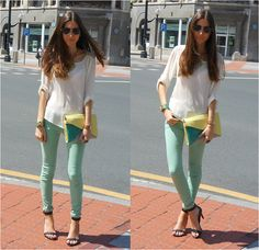 A touch of yellow (by Silvia Cuesta) http://lookbook.nu/look/3577015-A-touch-of-yellow