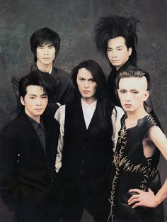 Buck-Tick back in the day... XD Atsushi's hair is life....