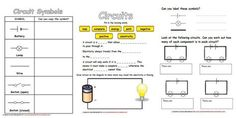 Worksheets on basic introduction to electricity, simple components and circuits.