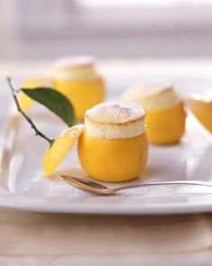 Tiny Lemon Souffle Stuffed Lemon Recipe