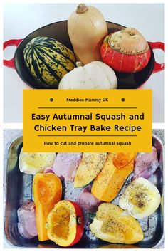 Easy Autumnal Squash and Chicken Tray Bake Recipe. How to prepare autumnal squash Easy Dinner Recipes, Fall Recipes, Real Food Recipes, Great Recipes, Easy Meals, Yummy Food, Healthy Recipes, Delicious Recipes, How To Prepare Squash
