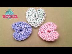Tığ İşi Örgü Kalp Yapımı - Örgü Kalp Nasıl Yapılır? - YouTube Crochet Videos, Crochet Accessories, Crochet For Kids, Crochet Shawl, Hair Pins, Free Pattern, Crochet Earrings, Sewing Patterns, Projects To Try