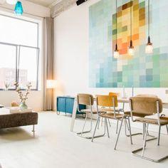 Die Wanddekoration 'Van Gogh pixel' von IXXI, gibt Deinem Wohnzimmer den perfekten Schliff.