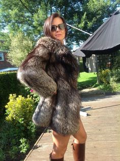VINTAGE GLAMOROUS REAL SILVER FOX FUR COAT SMALL UK8-10 | eBay