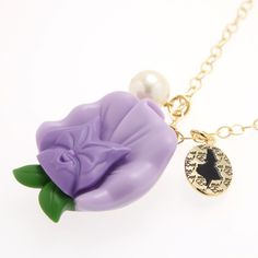 Singing Pansy Necklace