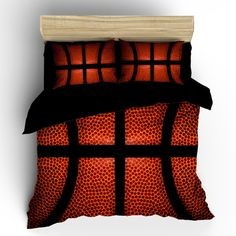 Custom Basketball bedding background basketball by redbeauty