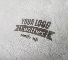 Photorealistic leather mock-up - Free designs