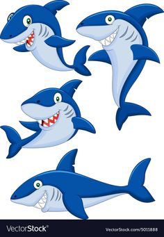 Find Cartoon Shark Collection Set stock images in HD and millions of other royalty-free stock photos, illustrations and vectors in the Shutterstock collection. Thousands of new, high-quality pictures added every day. Cartoon Cartoon, Cartoon Drawings, Free Vector Illustration, Shark Images, Shark Silhouette, Shark Drawing, Sharks For Kids, Shark Art, Applique Designs
