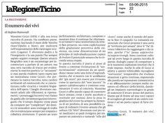 Recensione di Stefano Raimondi, «La Regione Ticino», 3 giugno 2015