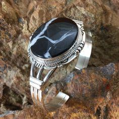 White Lightening Sterling Silver Bracelet by J Nelson