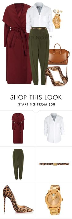 """Untitled #3032"" by stylebydnicole ❤ liked on Polyvore featuring Frank & Eileen, Givenchy, Topshop, Dolce&Gabbana, Christian Louboutin and Movado"