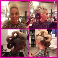 Hair up in barrels for beautiful Kate