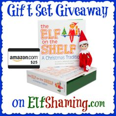 Win an Elf on the Shelf Gift Set from ElfShaming! #giveaway #Christmas