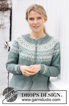 Fair Isle Knitting Patterns, Sweater Knitting Patterns, Knitting Designs, Knit Patterns, Free Knitting, Drops Design, Magazine Drops, Labor, Crochet Diagram