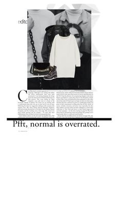 """""""Normal is overrated"""" by itsmeshoxo ❤ liked on Polyvore featuring Balmain, Chloé and Karl Lagerfeld"""
