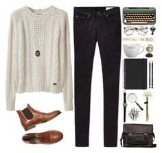 """""""Beautiful mind"""" by jocelynj17 ❤ liked on Polyvore featuring moda, Le Mont St. Michel, rag & bone, Muji, Crate and Barrel, The Import Collection, Prism, H&M, Advantus y Authentic Models"""