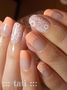 I love the white against the bare nail, the rest I don& like at all. Get Nails, Love Nails, Hair And Nails, Gorgeous Nails, Pretty Nails, Do It Yourself Nails, Uñas Diy, Nailart, Stamping Nail Art