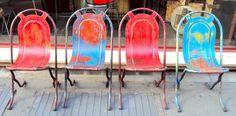 """<strong>Sedie inglesi degli anni 40 ,dette """" steamer chairs """" perchè utilizzate anche sui pontili dei piroscafi di quell'epoca.</strong> <strong>Anni 40</strong> <strong>Misure : cm .45x50xh82 seduta h. cm.42/47 </strong> <strong>[button href=""""http://www.neoretro-vintage-industrial.com/contatti/maggiori-informazioni/"""" colorstart="""""""" colorend="""""""" colortext=""""#000000"""" icon_size=""""12"""" class="""""""" target="""""""" align=""""horizontal"""" width=""""normal"""" icon="""""""" ]MAGGIORI INFORMAZIONI[/button]</strong>"""