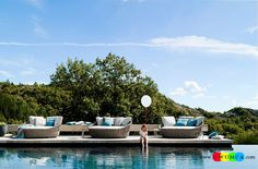 Furniture:Decorating Tosca Outdoor Furniture Table Sofa Daybed White Blue Cushions Chairs Tosca Outdoor Furniture For Outside Backyard Swimming Pools Tosca Collection Ideas Perfect Contemporary Daybeds For The Poolside Deck Timeless And Trendsetting Tosca Outdoor Furniture Collection Unravels A World Of Luxury for Outside Swimming Pools