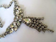 Vintage Rhinestone Necklace by mimiyaya on Etsy, $24.00