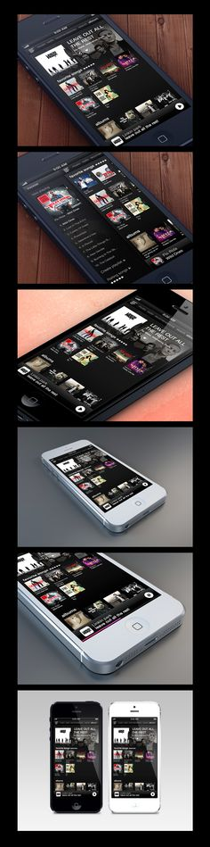 Music App Interface by Alex Bender, via Behance