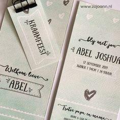 Mooi #watercolor #geboortekaartje voor een #jongen  www.zojoann.nl #baby
