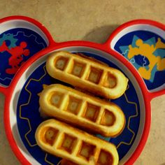 This is a really easy and delicious waffle recipe! I use the Babycakes waffle sticks maker and my son lives them because they are easy for him to just pick up and eat. Makes about 30 waffle sticks.