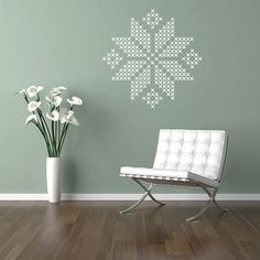 Cross Stitches Wall Stickers