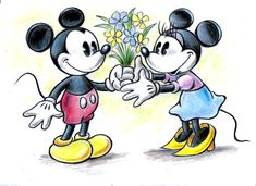 Mickey and Minnie by ~zdrer456