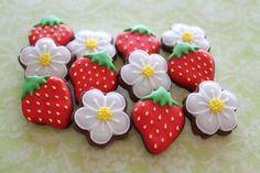 fresas y margaritas