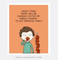 Doodle Prints - Shop.lingvistov.com #funny, #illustrations, #doodles, #joke, #humor, #cartoon, #cute, #comics, #print, #gifts, #posters, #coffee