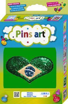 Kit Pins Art Brasil - DIY - Hand made with love