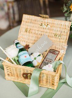 Wedding welcome gift basket for any destination wedding!