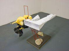 Nick van Woert - Thingy Steel, paint, binder paper, polyurethane foam, foam, cement, wood, plastic bag 2006