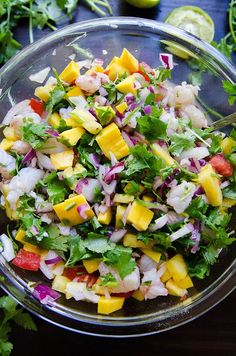 Tropical Rock Shrimp Ceviche With Pineapple, Mango & Lime | So...Let's Hang Out | Bloglovin'