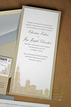 Chicago Skyline Wedding Invite For Chicago friends!
